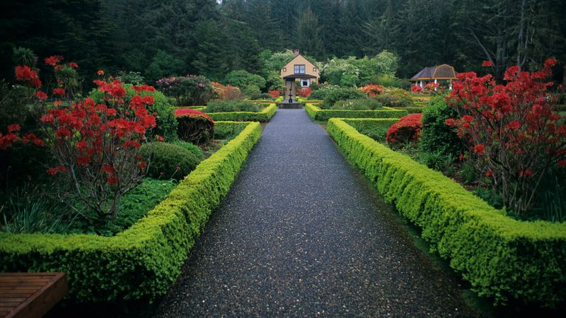 The botanical gardens at Shore Acres State Park in Coos Bay, Oregon