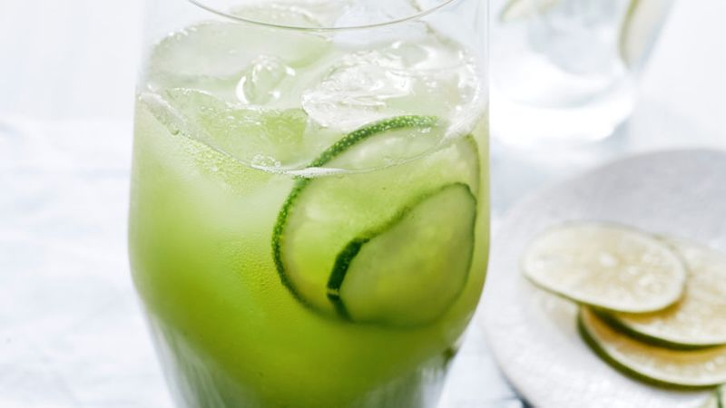 Cucumber, Lime, and Chile Agua Fresca