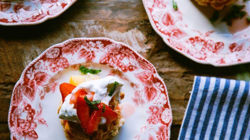 Mango Strawberry Shortcakes
