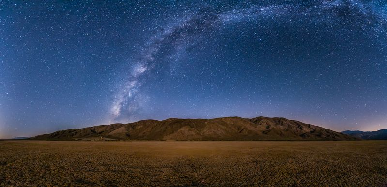 Starry sky over mountain Anza-Borrego Desert