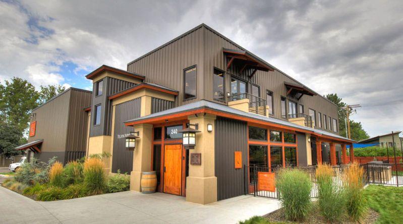 The exterior of Telaya winery in Idaho