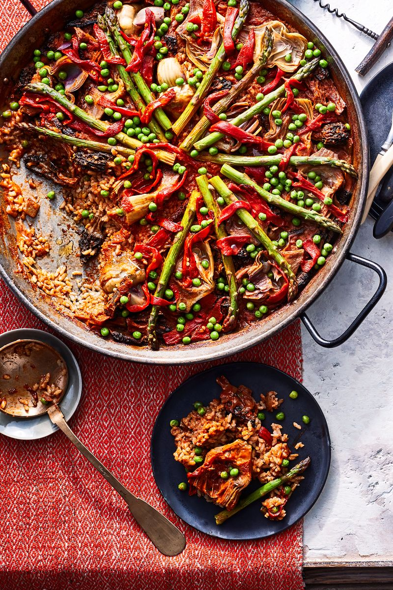 Grilled Vegetable Paella