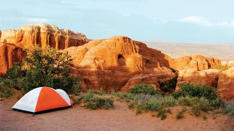 Devils Garden Campground in Utah's Arches National Park