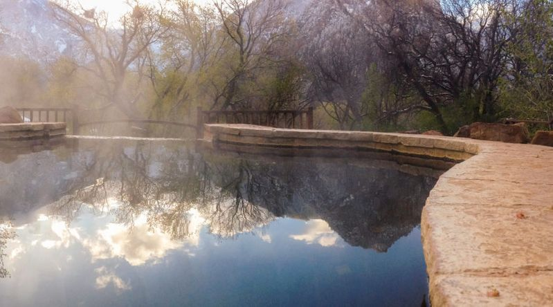 Hot springs at Avalanch Ranch, Carbondale