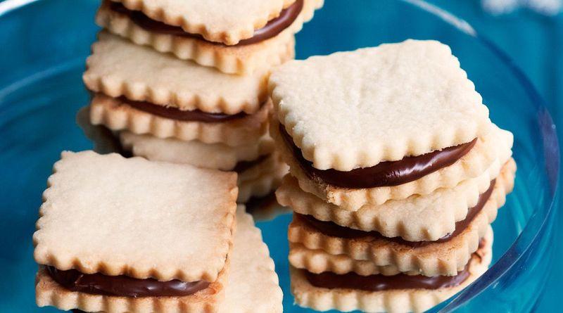 Chocolate Hazelnut Cutout Sandwich Cookies