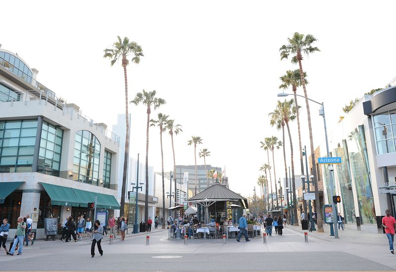 Street scene in Santa Monica, one of the best places to travel