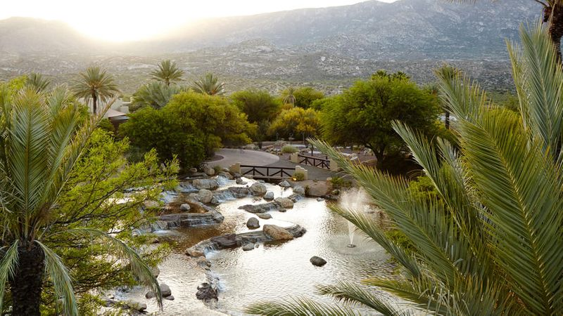 Mountain view of Miraval Resort in Tucson