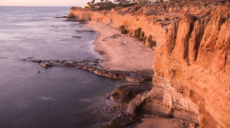 The Sunset Cliffs in San Diego, CA