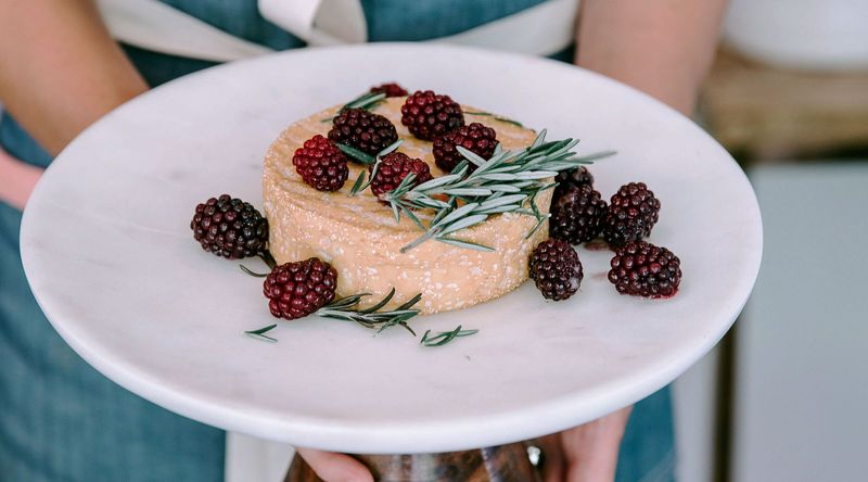 Baked Camembert with Blackberries and Rosemary