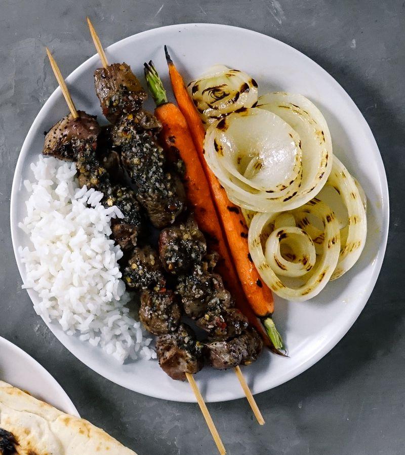 Japanese Spice Lamb Kebabs