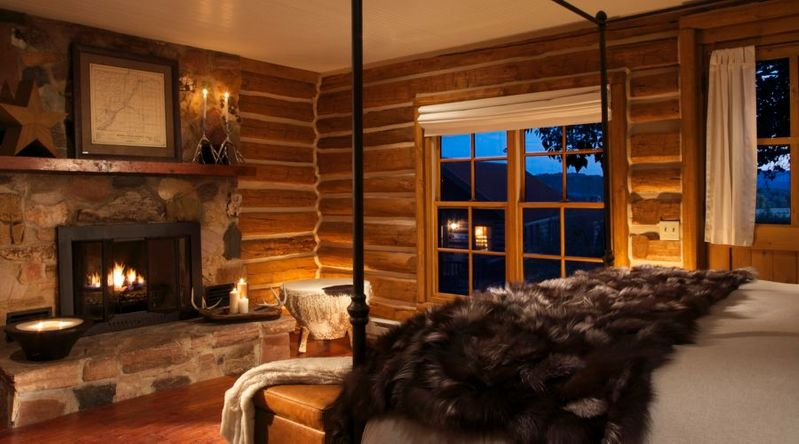 Inside a room at Brush Creek Ranch, where the resort offers great Thanksgiving couples getaways