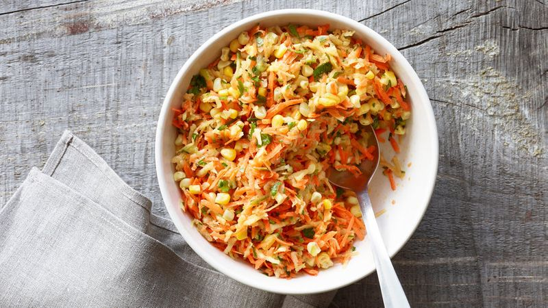 Carrot, Apple, and Corn Slaw