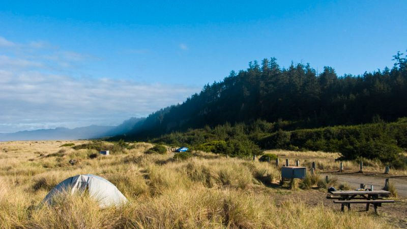 Orick: Coast camping