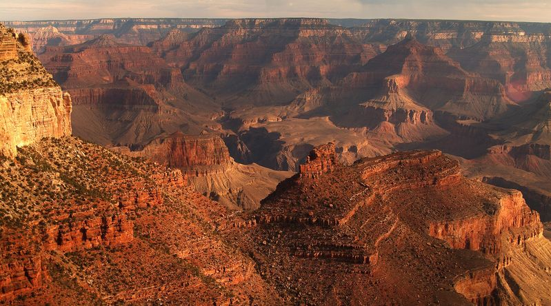 Bright Angel Trail at Grand Canyon National Park off Highway 89