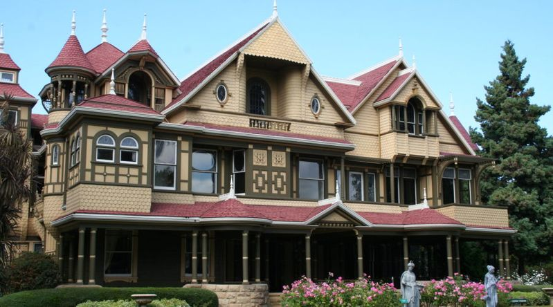 The exterior of the Winchester Mystery House, which has great ghost tours
