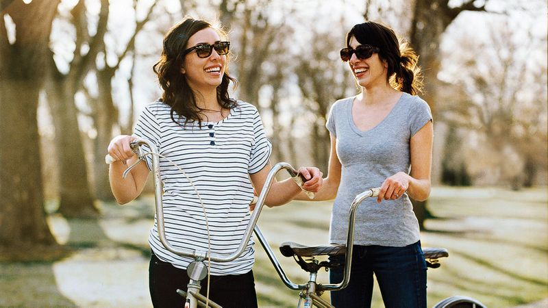 Two women on a Pacific Northwest trip biking around Boise