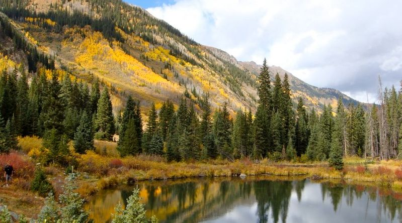 Best fall color in Colorado at Conundrum Hot Springs, Aspen