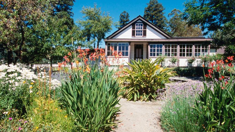 The house at Jack London State Historic Park, filled with the best hikes in the area