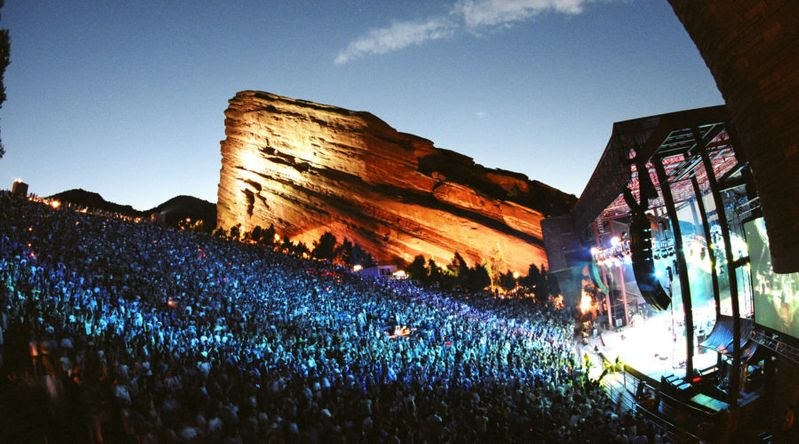 Concert Venue: Red Rocks Amphitheater (Morrison, CO)