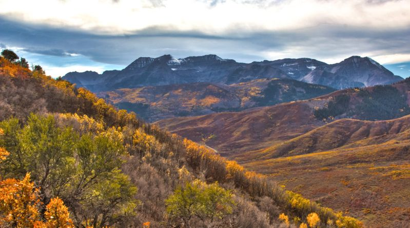 One of the great fall hikes of Utah, Mt. Timpanogos, Park City