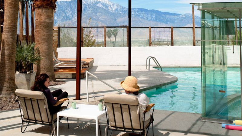 The mineral pool at Miracle Manor in Desert Hot Springs, CA