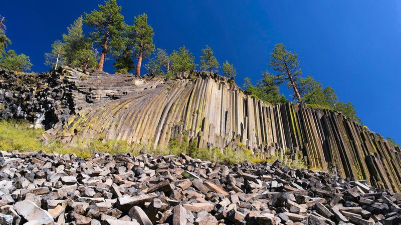 Devils Postpile National Monument in the California Sierra Nevada