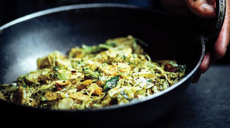 Brussels Sprouts with Spiced Coconut Oil