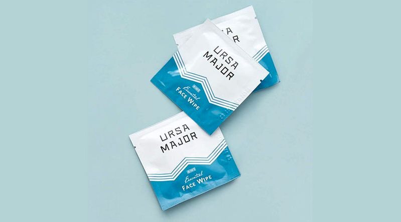 Ursa Major 4-in-1- Face Wipe individually wrapped