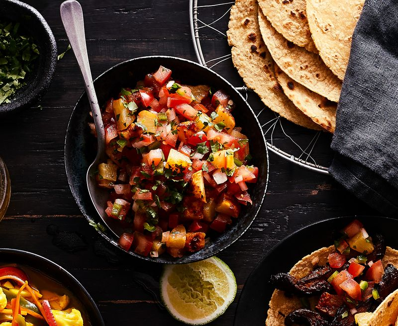 Pineapple Al Pastor Pico de Gallo