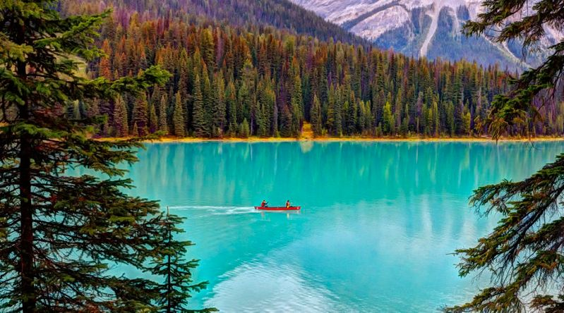 Emerald Lake at Yoho National Park, a solid alternative to the turquoise lakes at the overtourism-affected Banff National Park