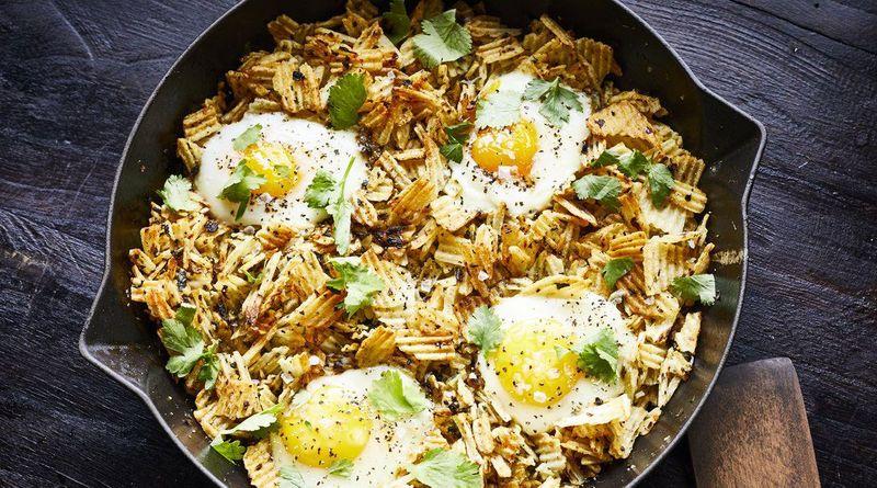 Eggs on Potato Chips