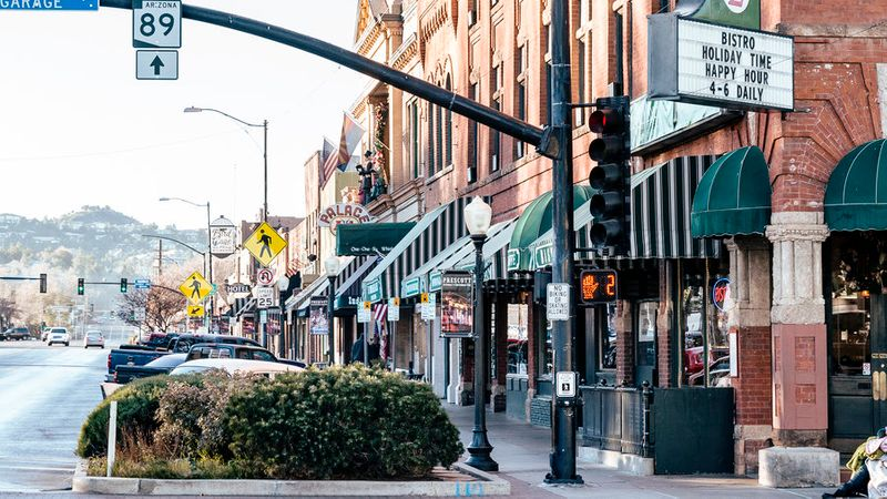 Whiskey Row in Prescott, Arizona