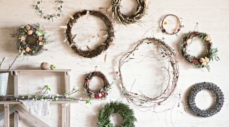 Wreath Gallery Wall