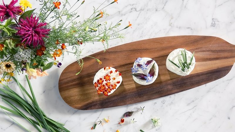 Flower-Pressed Cheeses