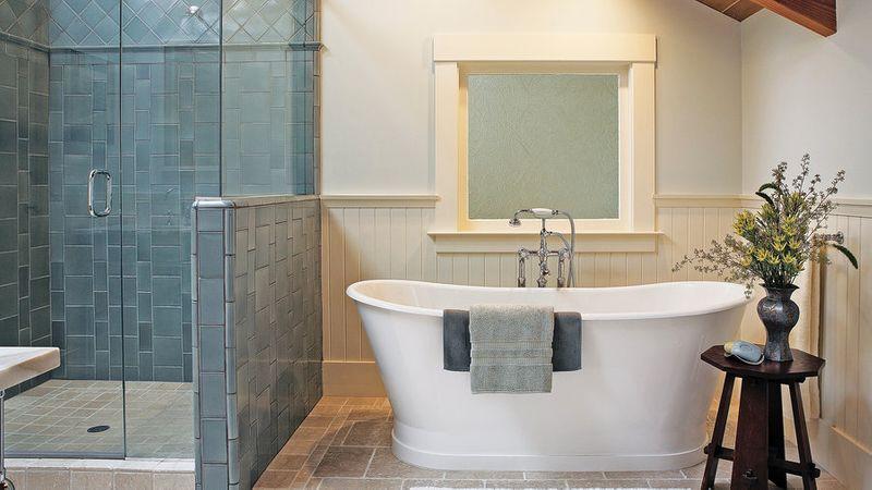 Great Shower & Bathtub Designs - Sunset Magazine on corner tub bathroom design, copper tub bathroom design, garden tub bathroom design, shower bathroom design, cottage bathroom design, claw tub bathroom design, walk in tubs bathroom design, rectangular tub bathroom design, clawfoot tub bathroom design,