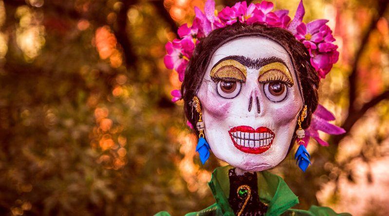 Day of the Dead, part of shrine (ofrendas) at Desert Botanical Gardens in Phoenix