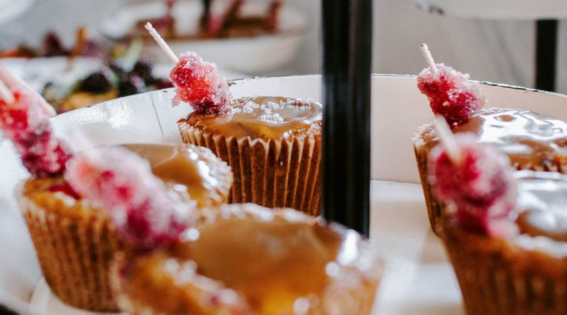 Cranberry Sticky Toffee Date Cake