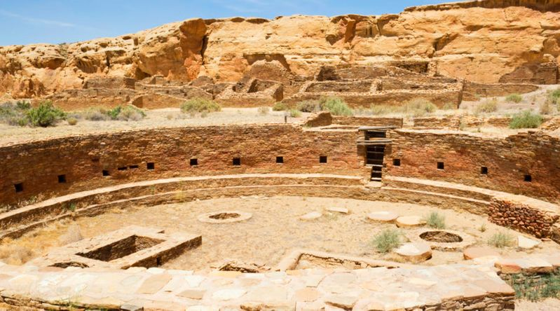 Chetro Ketl Ruins in Chaco Canyon at the UNESCO-recognized Chaco Culture National Historical Park, New Mexico