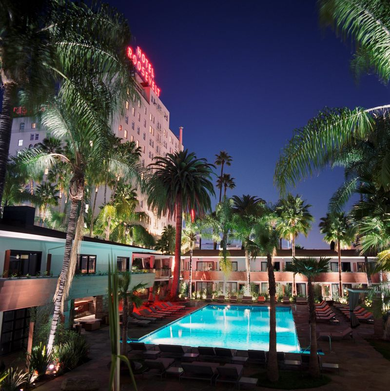 Best places to travel in Hollywood California with a room at the Hotel Roosevely