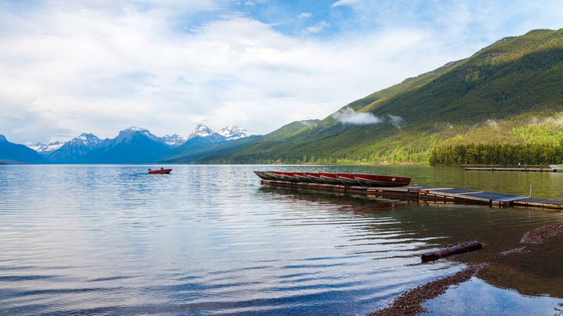 Best lake vacation Lake McDonald in Montana