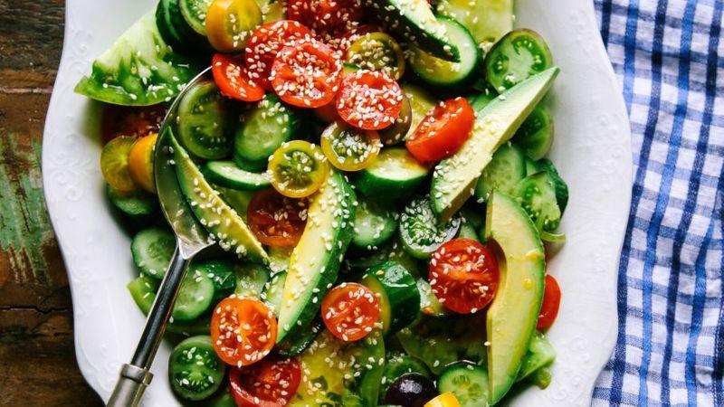 Tomato and Avocado Salad with Soy Vinaigrette