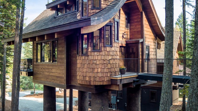 Retreat to a Tree House in Montana