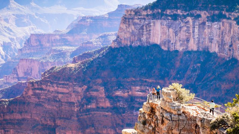 The North Rim at Grand Canyon National Park off Highway 89