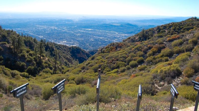 Views of mountains on the Sam Merrill Trail, Altadena, CA