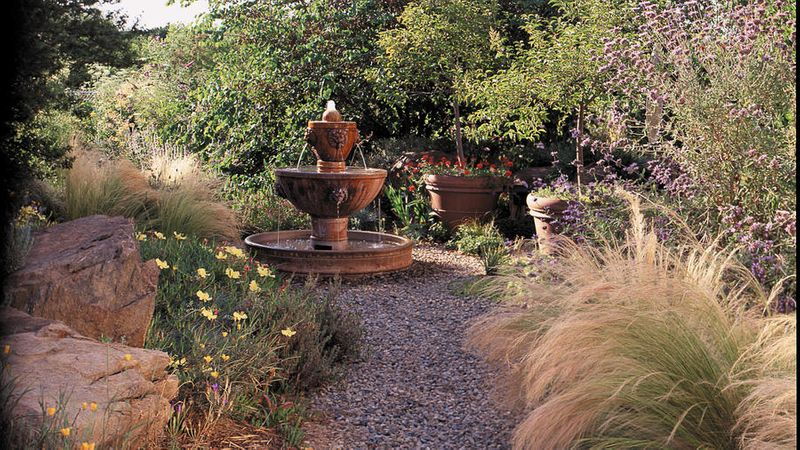 Great Garden Fountain Ideas Sunset