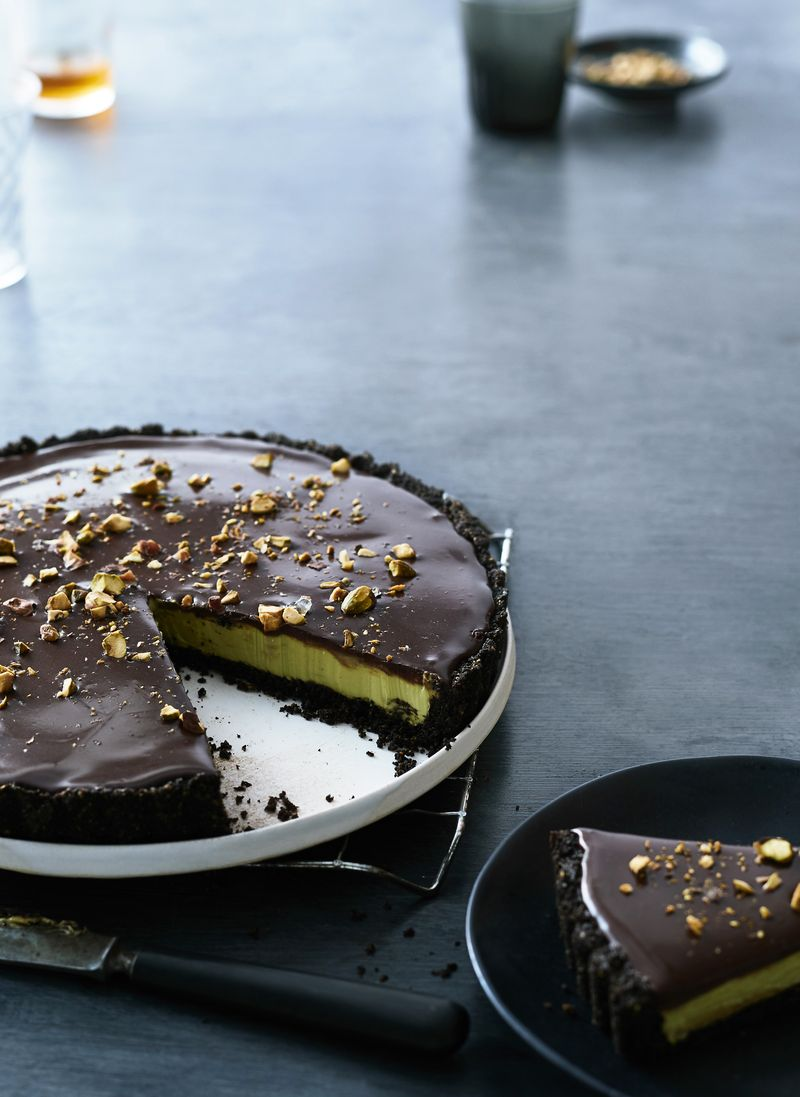Avocado and Dark Chocolate Tart