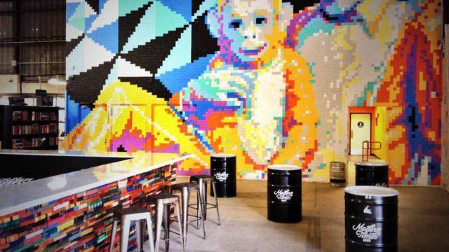 A mural inside Modern Times Beer