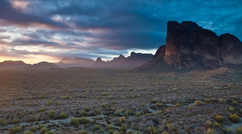 A sunrise view of Eagletail Mountain Wilderness